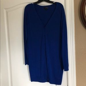 The Limited royal blue tunic v neck cardigan